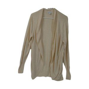 AVA &VIV Ivory Knit Soft Cardigan Size: X (14) NWT